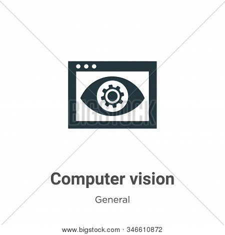 Computer vision icon isolated on white background from general collection. Computer vision icon tren