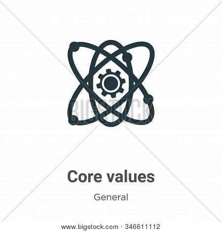 Core values icon isolated on white background from general collection. Core values icon trendy and m