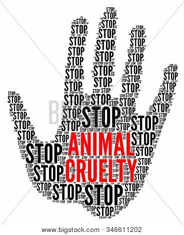 Stop Animal Cruelty Symbol With A White Background