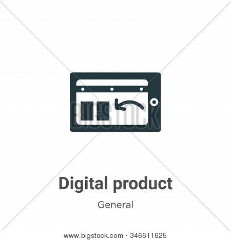 Digital product icon isolated on white background from general collection. Digital product icon tren