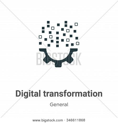 Digital Transformation Glyph Icon Vector On White Background. Flat Vector Digital Transformation Ico