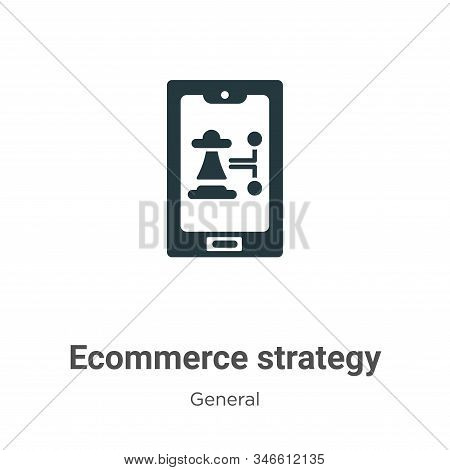 Ecommerce Strategy Glyph Icon Vector On White Background. Flat Vector Ecommerce Strategy Icon Symbol