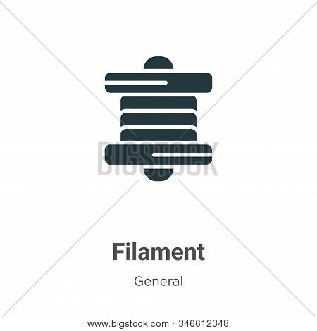 Filament icon isolated on white background from general collection. Filament icon trendy and modern