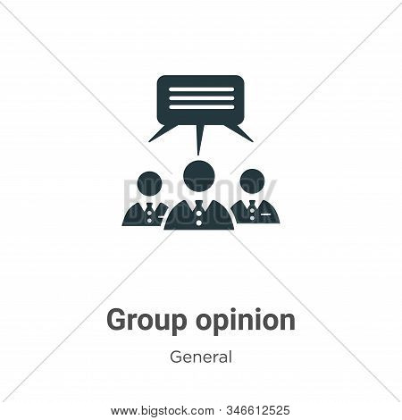 Group opinion icon isolated on white background from general collection. Group opinion icon trendy a