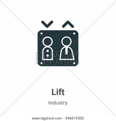 Lift icon isolated on white background from industry collection. Lift icon trendy and modern Lift sy
