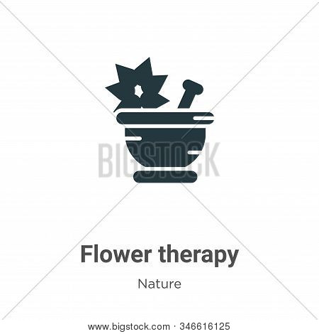 Flower therapy icon isolated on white background from nature collection. Flower therapy icon trendy