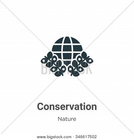 Conservation Glyph Icon Vector On White Background. Flat Vector Conservation Icon Symbol Sign From M