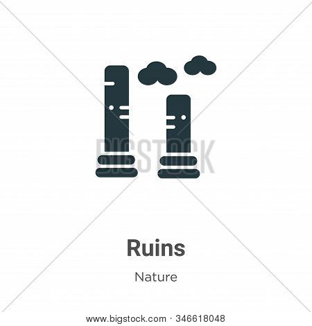 Ruins icon isolated on white background from nature collection. Ruins icon trendy and modern Ruins s