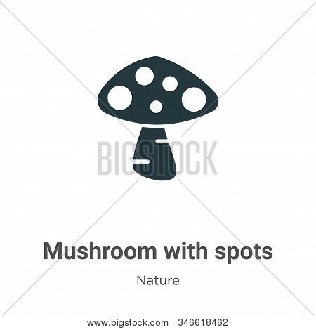 Mushroom with spots icon isolated on white background from nature collection. Mushroom with spots ic