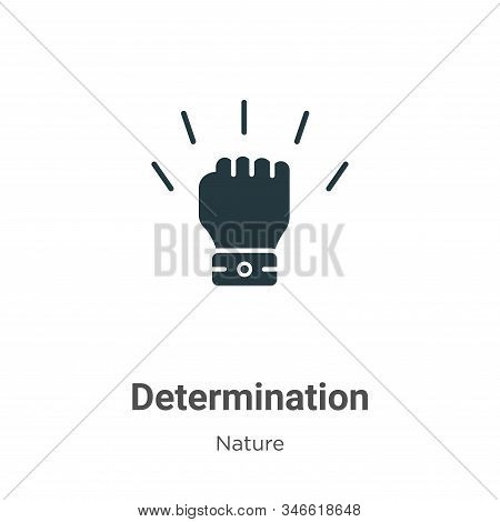 Determination icon isolated on white background from nature collection. Determination icon trendy an