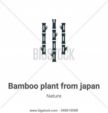 Bamboo plant from japan icon isolated on white background from nature collection. Bamboo plant from