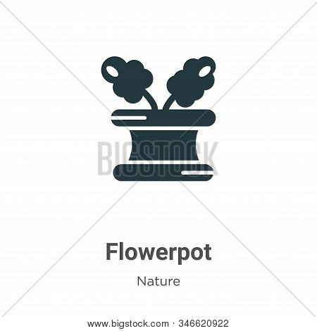 Flowerpot icon isolated on white background from nature collection. Flowerpot icon trendy and modern