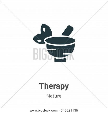 Therapy icon isolated on white background from nature collection. Therapy icon trendy and modern The