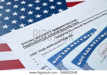 United States Social Security Number Cards Lies On Application From Social Security Administration O