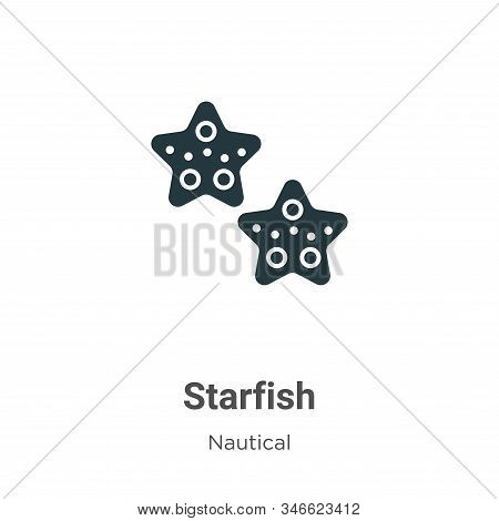 Starfish icon isolated on white background from nautical collection. Starfish icon trendy and modern
