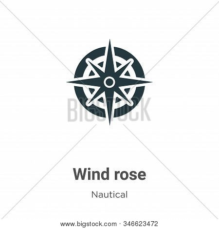 Wind rose icon isolated on white background from nautical collection. Wind rose icon trendy and mode