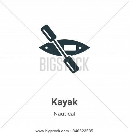 Kayak icon isolated on white background from nautical collection. Kayak icon trendy and modern Kayak