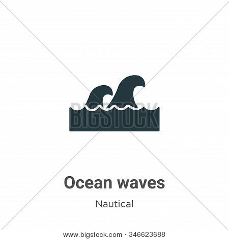Ocean waves icon isolated on white background from nautical collection. Ocean waves icon trendy and