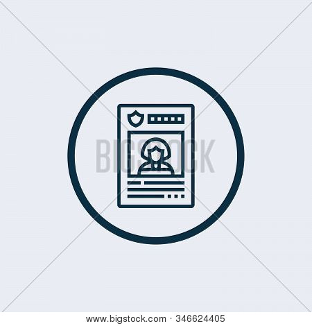 Wanted Icon Vector From Police Collection. Thin Line Wanted Outline Icon Vector Illustration. Linear