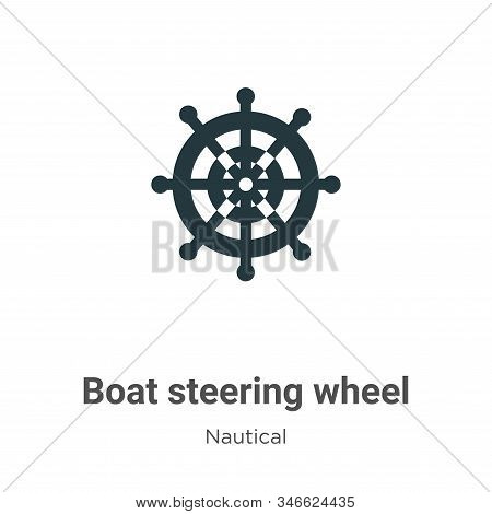 Boat steering wheel icon isolated on white background from nautical collection. Boat steering wheel