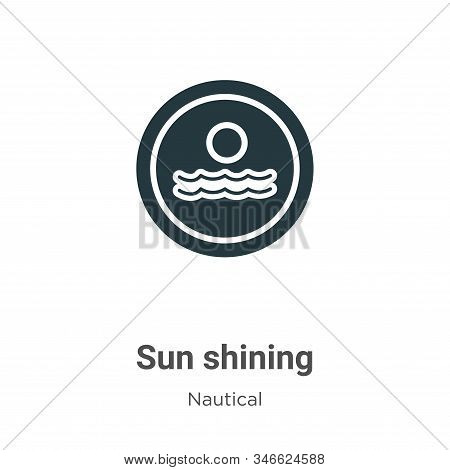Sun shining icon isolated on white background from nautical collection. Sun shining icon trendy and