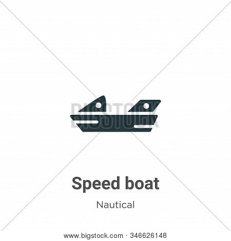 Speed boat icon isolated on white background from nautical collection. Speed boat icon trendy and mo