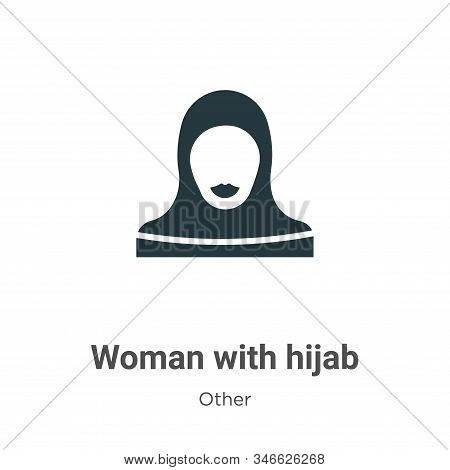 Woman with hijab icon isolated on white background from other collection. Woman with hijab icon tren