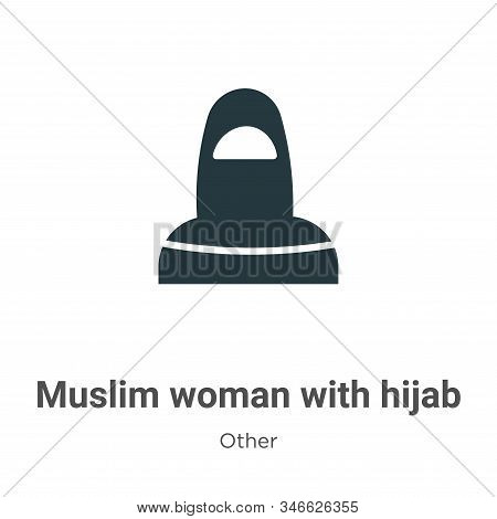 Muslim woman with hijab icon isolated on white background from other collection. Muslim woman with h