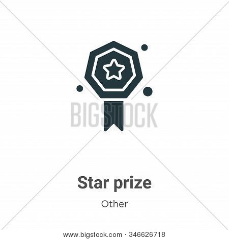 Star prize icon isolated on white background from other collection. Star prize icon trendy and moder