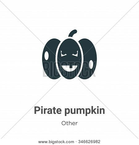 Pirate pumpkin icon isolated on white background from other collection. Pirate pumpkin icon trendy a