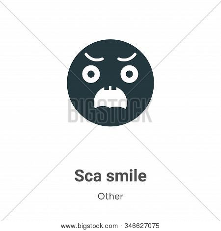 Scared smile icon isolated on white background from other collection. Scared smile icon trendy and m