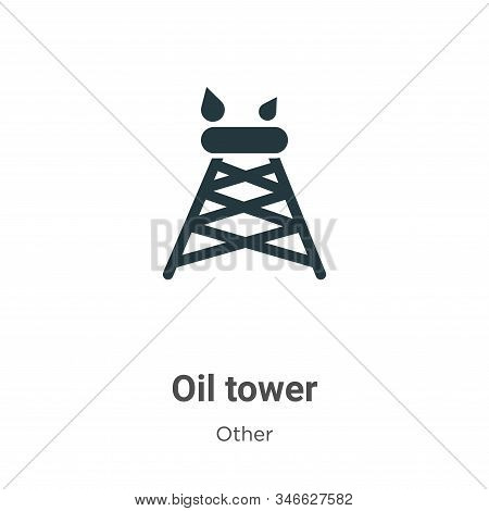 Oil tower icon isolated on white background from other collection. Oil tower icon trendy and modern