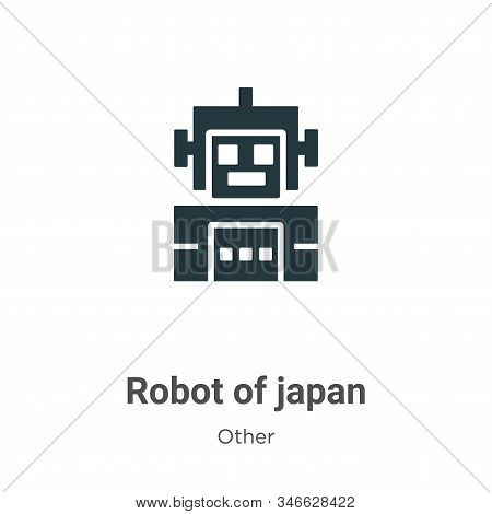 Robot of japan icon isolated on white background from other collection. Robot of japan icon trendy a