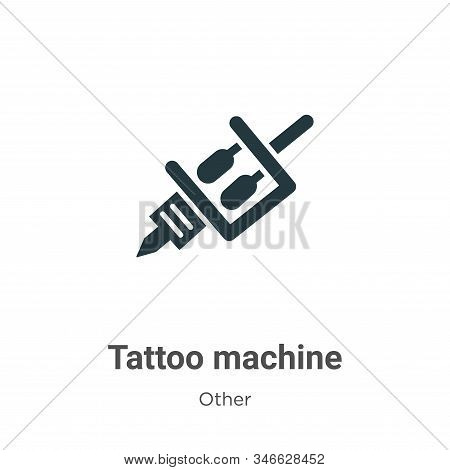 Tattoo machine icon isolated on white background from other collection. Tattoo machine icon trendy a
