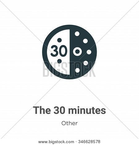 The 30 minutes icon isolated on white background from other collection. The 30 minutes icon trendy a