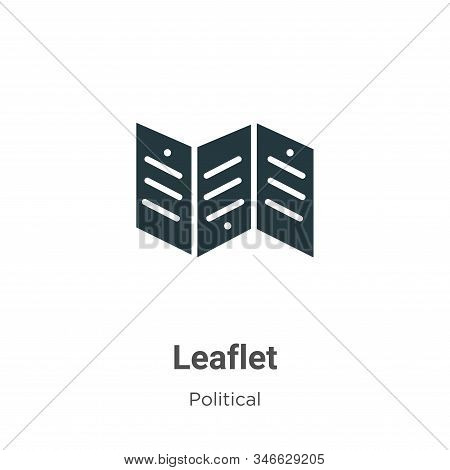Leaflet icon isolated on white background from political collection. Leaflet icon trendy and modern