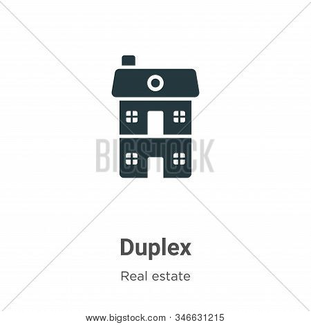 Duplex icon isolated on white background from real estate collection. Duplex icon trendy and modern