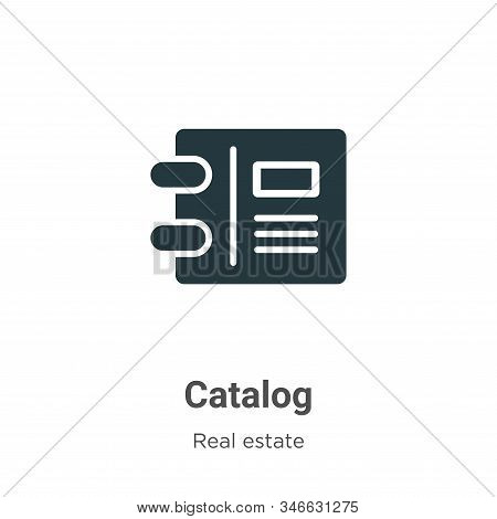 Catalog icon isolated on white background from real estate collection. Catalog icon trendy and moder