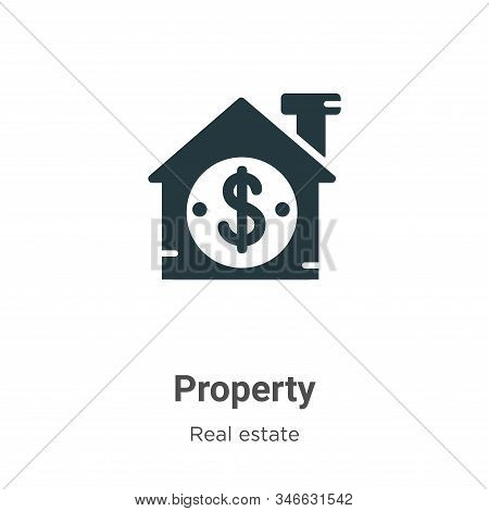 Property icon isolated on white background from real estate collection. Property icon trendy and mod