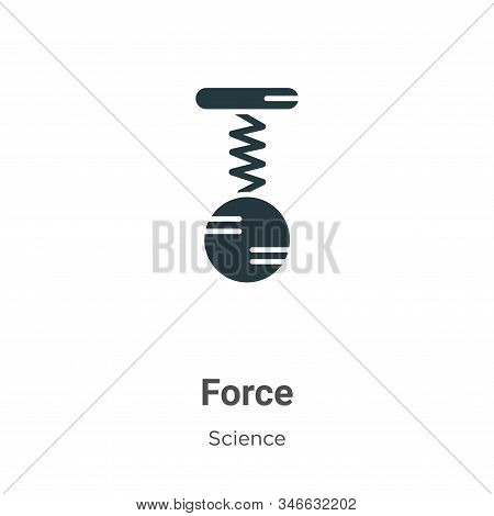 Force icon isolated on white background from science collection. Force icon trendy and modern Force