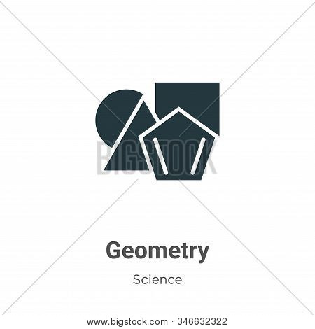Geometry icon isolated on white background from science collection. Geometry icon trendy and modern