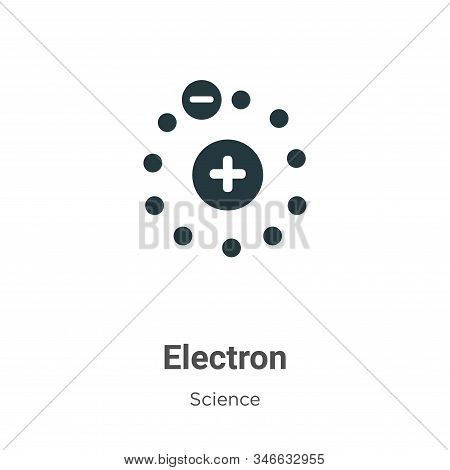 Electron icon isolated on white background from science collection. Electron icon trendy and modern