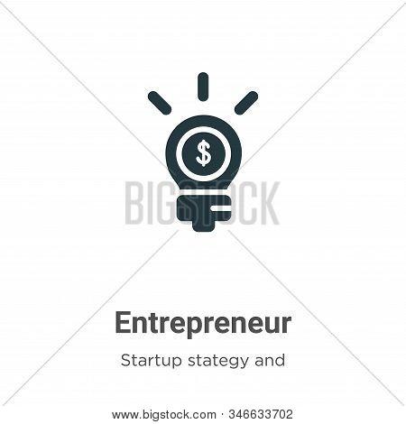 Entrepreneur Glyph Icon Vector On White Background. Flat Vector Entrepreneur Icon Symbol Sign From M
