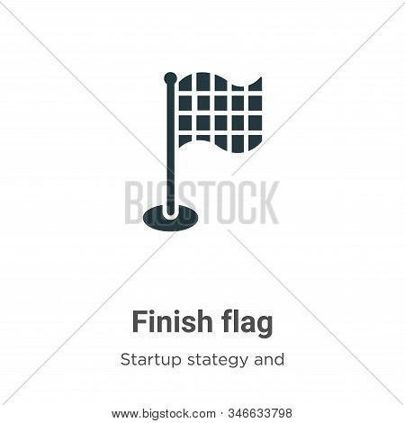 Finish flag icon isolated on white background from startup stategy and success collection. Finish fl