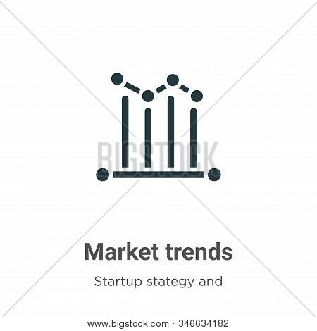 Market trends icon isolated on white background from startup stategy and success collection. Market