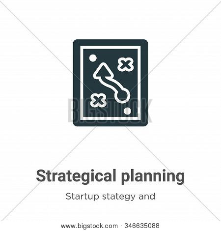 Strategical planning icon isolated on white background from startup stategy and success collection.