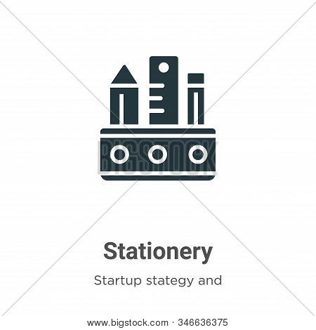 Stationery icon isolated on white background from startup collection. Stationery icon trendy and mod