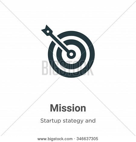 Mission icon isolated on white background from startup collection. Mission icon trendy and modern Mi