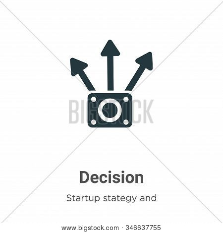 Decision icon isolated on white background from startup collection. Decision icon trendy and modern