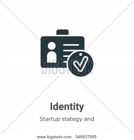 Identity icon isolated on white background from startup collection. Identity icon trendy and modern